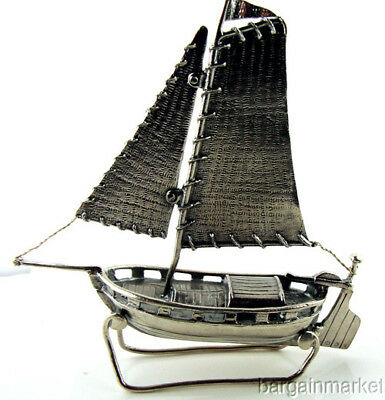Sterling Silver Sail Boat Nice Weight Paper Weight #461