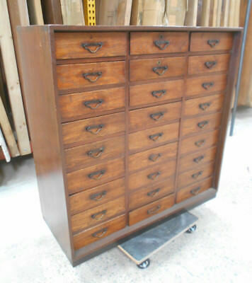 Antique Keyaki and Sugi Wood Document Chest Cupboard Japanese 1890s #146