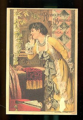 Reynolds Brothers Fine Shoes - Utica, Ny - Advertising Card
