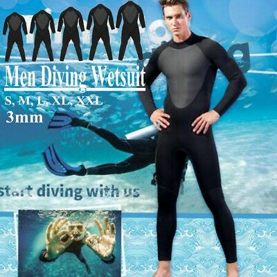 Men Diving Wetsuit Full Body Elasticity Surfing Snorkeling Spearfishing Suit 3mm