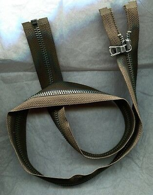 30 inch Very Dark Olive Green & Antique Nickel #5 TAT Separating Zipper New!
