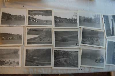 Lot of 14 Vintage 1950s Photos Motorcycle Racing So California Free Shipping 878