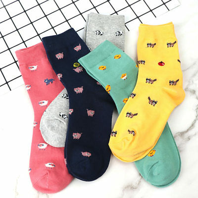 Elegant Women Cute Animal Socks Winter Autumn Warm Sock Soft Cotton Casual Sock