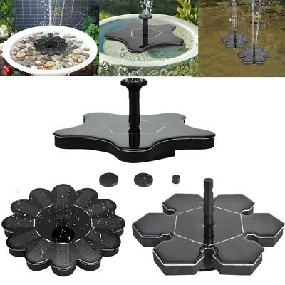 Garden Pool Pond Solar Panel Powered Submersible Floating Fountain Water Pump