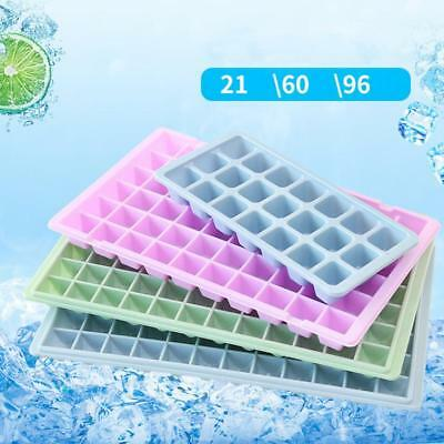 21 60 96 Cavity Ice Cube Tray Box With Lid Cover Drink Jelly Freezer Mold Mould