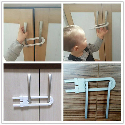 Child Infant Baby Kid Safety Drawer Door Cabinet U Shape Lock Baby Safety New