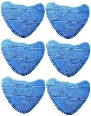 6 x Vax S-7-A Microfibre Cleaning Pads For Total Home Master Steam Cleaner Mops