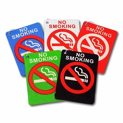 5 Pack Assorted No Smoking  Hanging Car Air Fresheners - 5 Scent - Taxi Cab Uber