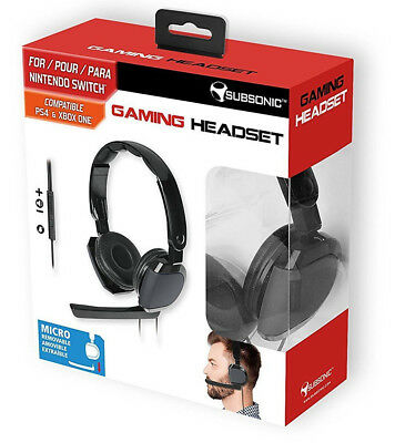 Subsonic - Gaming Headset for Nintendo Switch - PS4 - Xbox One - PS VR NEW