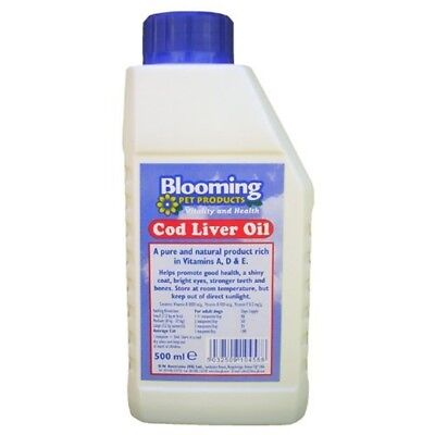 Blooming Pure Cod Liver Oil (500ml) - Pet Equimins Cat Dog Supplements 500ml