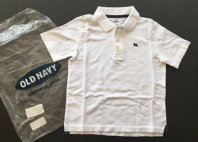 NWT Old Navy Boys Size 4 4T White Pique Polo Shirt