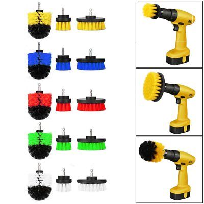 3Pcs/Set Tile Grout Power Scrubber Cleaning Drill Brush Tub Rotary Combo Tool US