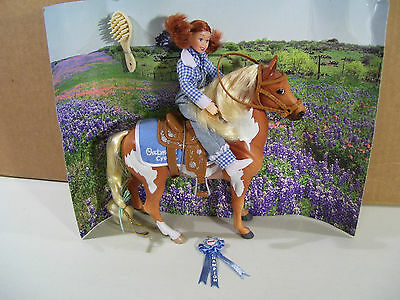 Breyer Little Debbie Pony & Girl Rider Doll Set, Oatmeal Creme Horse Figure 2004