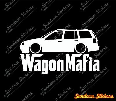 2x Lowered car outline stickers B7 AVANT RS4 Station Wagon VAG for Audi A4