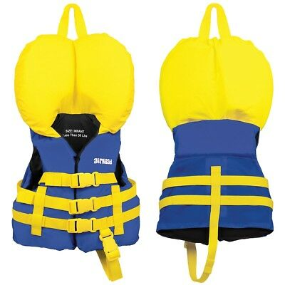 Airhead Open Sided Infant Nylon Life Vest Blue/Yellow Less than 30 lbs