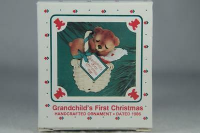 Hallmark '1986 Dated Grandchild's First Christmas' Miniature Ornament New In Box
