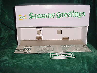 Seasons Greeting Xmas Hess Fire Truck Box &insert& Battery Card For 1970 Truck