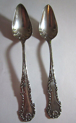 Pair of Whiting Sterling Silver Citrus Grapefruit Spoons