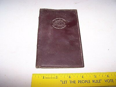 Vintage SEAGRAM'S SEVEN CROWN Wallet or Note Pad Cover