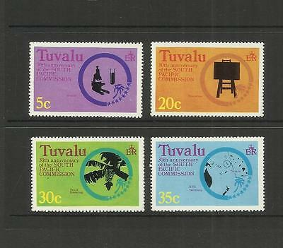 TUVALU (ELLICE ISLANDS) ~ 1977  SOUTH PACIFIC COMMISSION 30th ANNIV.