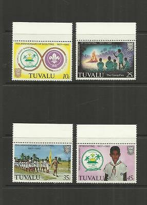 TUVALU (ELLICE ISLANDS) ~ 1982 BOY SCOUT MOVEMENT 75th ANNIV.