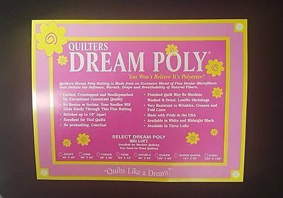 Quilters Dream Midnight Select Poly Mid Loft King Size Black Quilt Batting