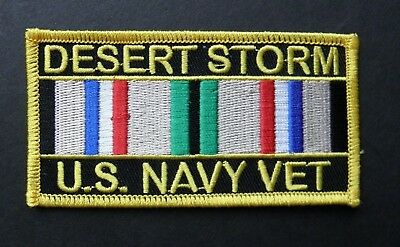 Operation Desert Storm Usn Navy Veteran Embroidered Patch 4 X 2 Inches