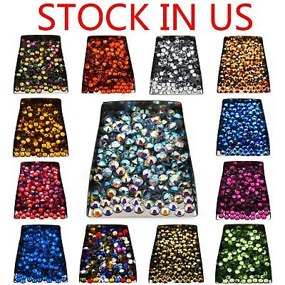 Czech Crystal Rhinestones Top Quality Flatback DMC Iron Hotfix 1440pcs