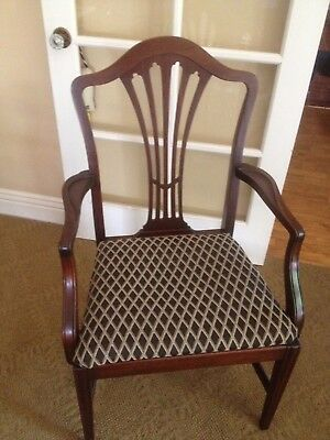 Antique Solid Walnut Duncan Phyfe  Arm Chair Rare
