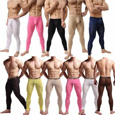 Mens Tracksuit Bottoms Fetish Underwear Gym Jogging Joggers Base Layer Pants