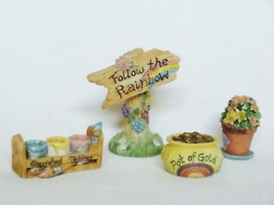 Cherished Teddies  ~  FOLLOW THE RAINBOW ... Acc. Set of 4  *  NEW From Our Shop