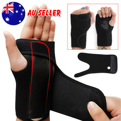 Wrist Support Splint Carpal Steel Tunnel Syndrome Sprain Strain Bandage Brace OZ