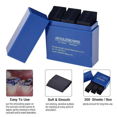 300 Sheets Dental Articulating Paper Dental Lab Products Teeth Care Strips Kit