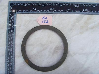 16162 bd152:  French clock case back door ring for 116mm aperture