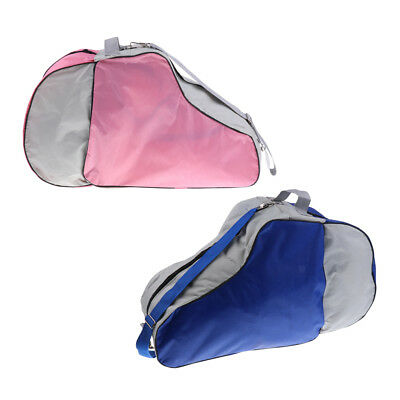2pcs Large Capacity Roller Skating Bag Triangle Ice Skates Carry Bag Handbag