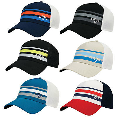 e7b4a5e9585 Callaway Stripe Mesh Fitted Cap Golf Hat 2017 New - Choose Color   Size!
