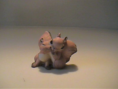 Vintage 1960's Miniature Bone China Couple Of Lover Squirrels