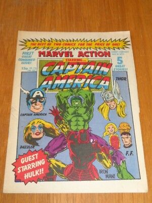 Marvel Action Starring Captain America #21 Marvel British Weekly 15Th July 1981