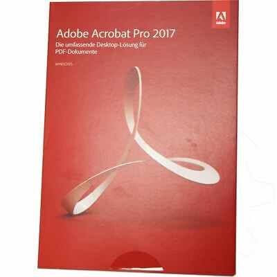 Adobe Acrobat Pro 2017 32 Bit Deutsch PDF Bearbeitung Vollversion PC (DVD)