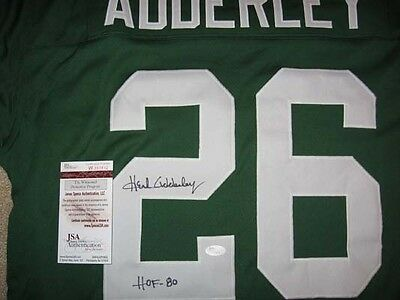Packers Herb Adderley signed Jersey with HOF 80 inscription JSA witness b8fa213fb