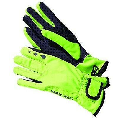 Harry Hall Dwr Softshell Wind Proof Everyday Riding Glove X Large Fluorescent -