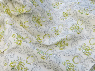 """Unused    Vintage Cotton  Duvet Cover Single Bed  Flowers Wreaths  51 """" by 78 """""""