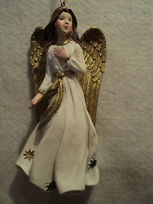 "Roman, Inc. ""WHITE AND GOLD ANGEL ORNAMENT ~ Style B"" ~ NEW"