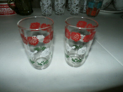 Lot of 2 Vintage Swanky Swig Juice Glasses (Kraft Cheese)