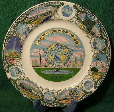 "New York World's Fair 1964-1965 Collector's Plate - 8"" Diameter"