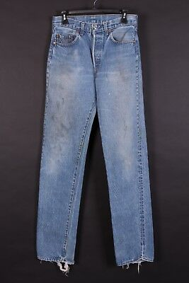 Vtg Levis 501 Buttonfly High Waisted Mom Boyfriend Jeans Usa Size 29X36