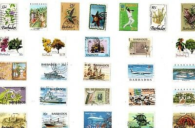 A Lovely Mix Of 27 Different Good/fine Used Commemorative Stamps From Barbados