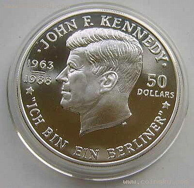 Niue 1988 J.Kennedy 50 Dollar Silver Coin,Proof