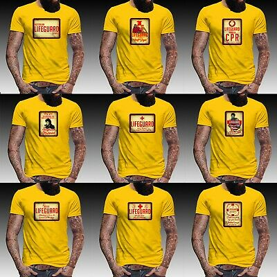lifeguard t shirt hoff david hasselhoff funny fancy dress stag do mens top