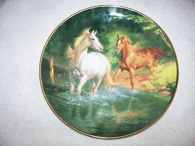 Free As The Wind B.r. Linklater Franklin Mint Horse Art Plate